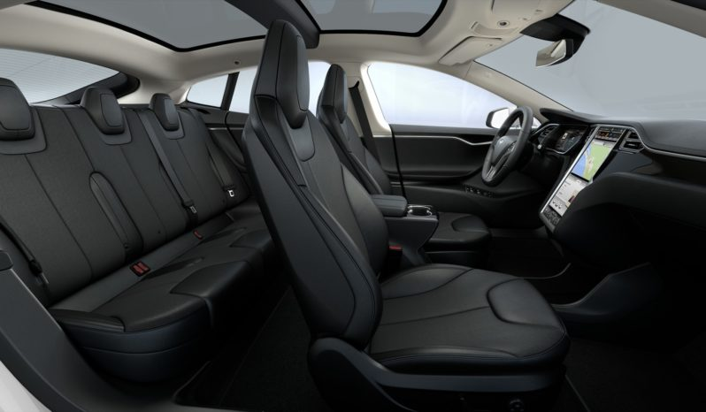 Tesla Model S 75D  Blanco perla Dark ash Décor Interior 1
