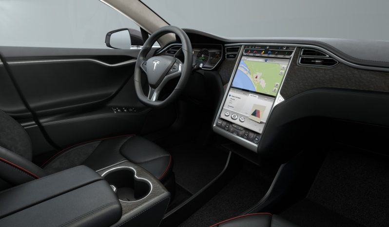 (Vendido) Tesla Model S P85+ Grís metalizado Lacewood Décor Interior 1